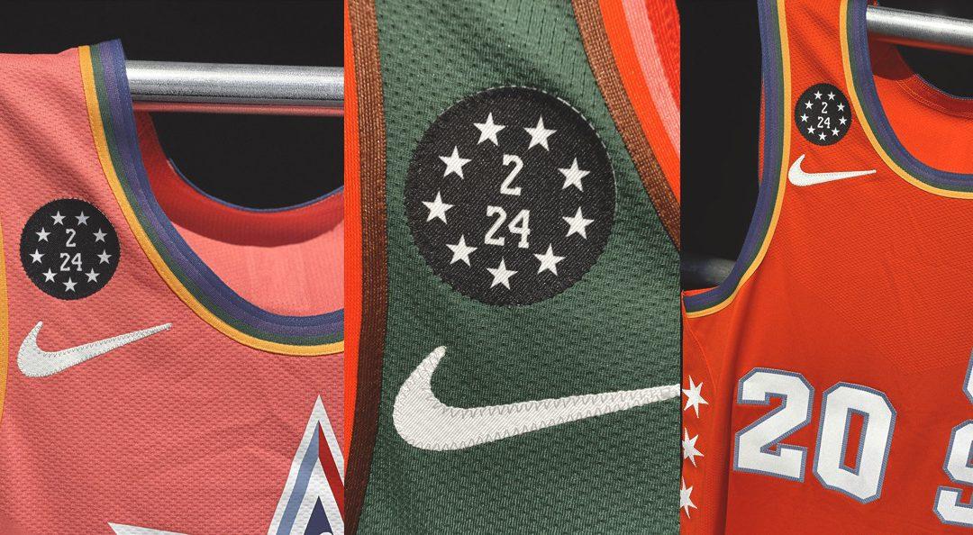 Camiseta All-Star parches de tributo para Kobe Bryant,Gianna, Calabasas