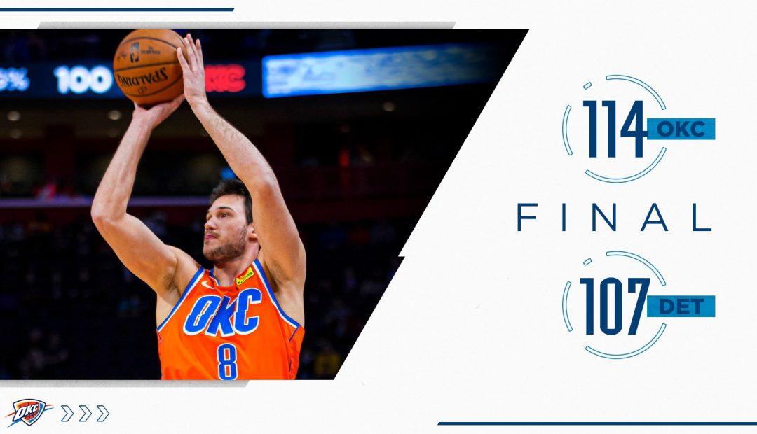 Detroit Pistons VS. Oklahoma City Thunder